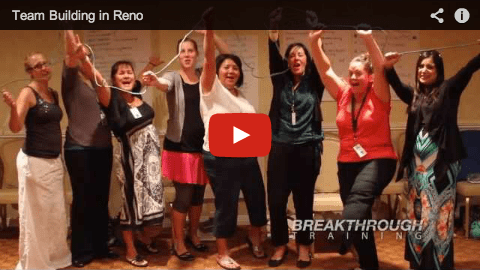 Team Building session in Reno with Community Services Agency facilitate by Breakthrough Training